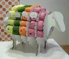 Crochet Monkey Pattern, Yarn Display, Diy And Crafts, Arts And Crafts, Yarn Storage, Mum Birthday, Wooden Animals, Yarn Shop, Woodworking Projects Plans