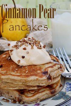 Gluten Free Cinnamon Pear Pancakes - Capturing Joy with Kristen Duke