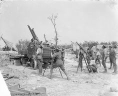 BATTLES SOMME 1 JULY - 18 NOVEMBER 1916 (Q 4082) 13pdr. 9cwt. Anti-aircraft gun on Thornycroft lorry in action. Fricourt, August 1916.https://www.facebook.com/pages/As-tears-petrified-in-the-ground-14-18-WWI/610711125633069