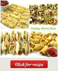 Holiday Skinny Bites These 6 bite size treats are really easy to make during the holiday season. All are very low in calories, fat and Weight Watchers POINTS PLUS!  Make one or a...