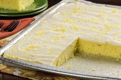 Lemon desserts are perfect for summer 'cause they taste like sunshine! Plus, this sheet cake makes enough to feed everyone at your summer potluck!