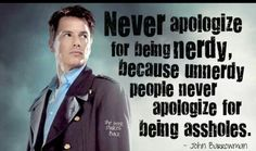 John Barrowman said this at Fandomfest-I was there! It was awesome.