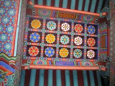 Details on the ceiling a building next to the Yonjoosa temple.