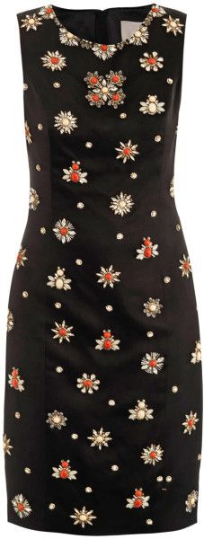 Love this: Embellished Satin Sheath Dress | The House of Beccaria