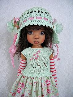 """Rose Paisley Outfit for Kaye Wiggs' MSD size BJD 18""""  Doll Layla , made by Ulla"""