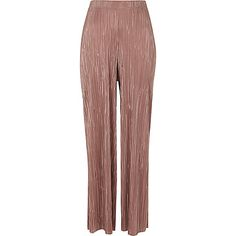 Light pink plisse wide leg trousers £35.00