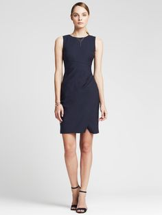 banana republic lightweight wool navy wrap dress - Google Search