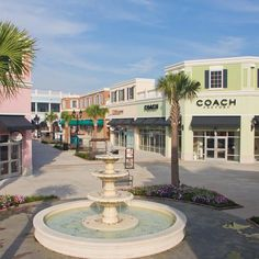 The Tanger Outlets in North Charleston feature an outdoor mall experience with outlet shops like Coach, Banana Republic, Old Navy, Gap, Rack Room Shoes, Eddie Bauer, Fossil, and many more options!