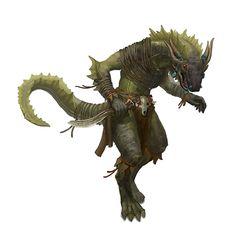 Male Lizardman Rogue - Pathfinder PFRPG DND D&D 3.5 5th ed d20 fantasy