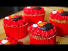 Cupcakes de Elmo para niños.