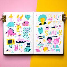 Susann Hoffmann - Sketchbook Posca Marker, Marker Art, Arte Sketchbook, Sketchbook Pages, Colorful Drawings, Cute Drawings, Illustrations, Illustration Art, Posca Art