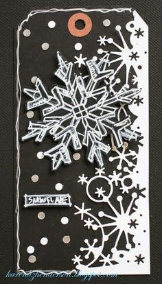 Snowflake Tag - Scrapbook.com