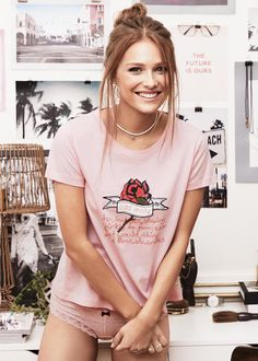 Odd Molly T-shirt 717M-1R Reliving T-shirt - pink
