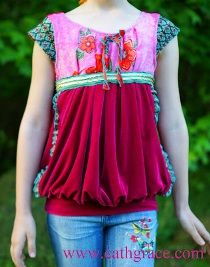 Lookie what she made: Boho bubble top refashion · Sewing | CraftGossip.com