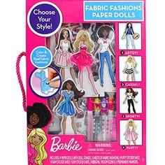 Barbie Fabric Fashion Paper Dolls Barbie
