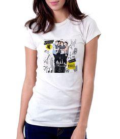5 SOS She Looks So Perfect - Women - Shirt - Clothing - White, Black, Gray - @Dianov93