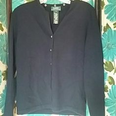 Navy Ralph Lauren Cardigan Such a great little sweater and will go with everything.  A blend of merino , cashmere and angora. Ralph Lauren Sweaters Cardigans
