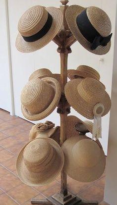 Straw Hats - love them! Sombrero A Crochet, Hat Storage, Hat Organization, Hat Display, Fedora Hat Women, Summer Hats For Women, Hat Stands, Hat Boxes, Love Hat