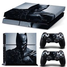 Batman for PS4 Vinyl Skin Decal Sticker for sony PS4 Console & 2PCS Controllers   #TN-PS4-0026