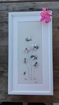 Pebble art Flowers new flowers gift wall by pebbleartSmiljana