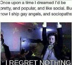 No regrets.<---- Yes. Totally.