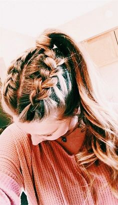 Cute and simple long hairstyles for school coolest hair color trends in yes . - Hair Styles - Cute and simple long hairstyles for school coolest hair color trends in yes # - Short Hair Styles Easy, Medium Hair Styles, Curly Hair Styles, Hair Medium, Medium Long, Hair Braiding Styles, Plait Styles, Best Hair Dye, Easy Hairstyles For Long Hair