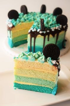 tort ombre Sweets, Cake, Desserts, Sweet Pastries, Pie Cake, Tailgate Desserts, Pastel, Goodies, Dessert