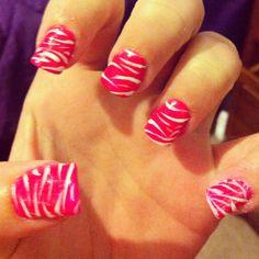 Pink and white zebra!