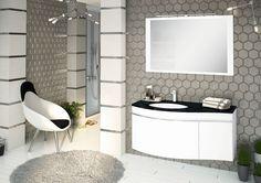 Modna łazienka: 12 kolekcji mebli - Galeria - Dobrzemieszkaj.pl Double Vanity, Mirror, Bathroom, House, Furniture, Home Decor, Washroom, Decoration Home, Home