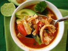 Chicken Tortilla Soup   #justeatrealfood #paleomg