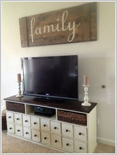 Extra large apothecary TV stand {building}