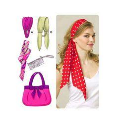 KWIK Sew 3526 Bag Wristlet Headbands and Scarf by ucanmakethis