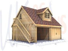 Our garages are delivered without garage doors. Wooden garage doors can be supplied extra. Timber Frame Garage, Wooden Garage Doors, Wooden Garages, Plan Garage, Carport Garage, Carport Designs, Garage Design, Garage With Room Above, Garage Extension