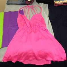 Lowest price!! NWOT VS Slip Gorgeous strappy pink slip from Victoria's Secret size medium, thought it would fit me but no luck! Victoria's Secret Intimates & Sleepwear Chemises & Slips