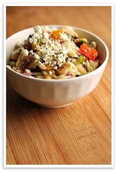 Roasted Vegetable Orzo Salad #Recipe  from @Amy Johnson / She Wears Many Hats