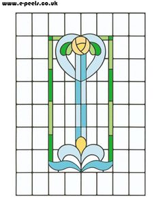 ★ Stained Glass Patterns for FREE ★ glass pattern 166 ★ Stained Glass Quilt, Stained Glass Projects, Stained Glass Patterns, Mosaic Patterns, Stained Glass Windows, Leaded Glass, Mosaic Glass, Art Nouveau, Led Diy