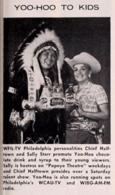 Chief Halftown and Sally Starr for Yoo-Hoo chocolate drink
