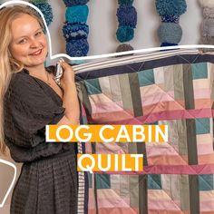Quilt Tutorials, Sewing Tutorials, Quilting Projects, Sewing Projects, Kate Owen, Quilt Patterns, Sewing Patterns, Log Cabin Quilt Pattern, Crochet Pillow Pattern