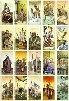 Albrecht Dürer Tarot cards that are based on engravings by Albrecht Dürer, made by Italian artist Giachinto Gaudenzio in 2003. Maps are made in the style of colored engravings.