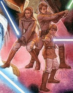 Anakin Solo with his brother and sister.