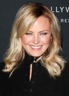 Malin Akermans bright, blonde hairstyle