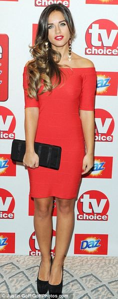 Scarlet women! Coronation Street's Brooke Vincent and Georgia May Foote both opted for bold red off-shoulder ensembles as they rocked the red carpet at the 2013 TV Choice Awards on Monday night