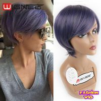New arrival Short Size OL Wig Fashion Ombre Color Synthetic Wig Natural Wear Non Lace Wig Cosplay Sexy Short Haircut Female Wigs
