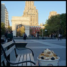 The next location in our Off The Wall in the City Series is the iconic Washington Square Park. It's truly an amazing spot to relax and catch a gorgeous autumn sunset.   Say Yes to Fall at Off The Wall  #OTWInTheCity #froyo #frozenyogurt #nyc #newyorkcity #washingtonsquare #washingtonsquarepark #nycbased #autumn #fall #nycfall #nycautumn #fallflavors #dessert #yum