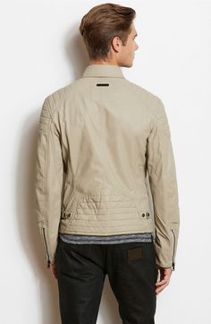 Faux Leather Moto Jacket - Jackets & Blazers - Mens - Armani Exchange