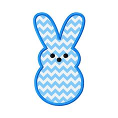 Marshmallow Bunny Rabbit Applique Embroidery by AppliqueCandy