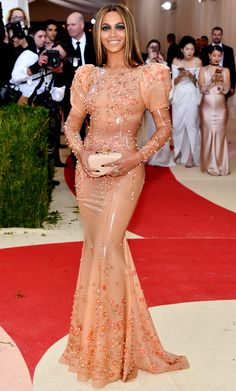 Beyonce in latex Givenchy - click through to see more best dressed at the 2016 Met Gala!