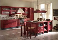 I Love This Red Kitchen