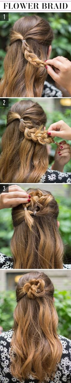 mydearCathy: 15 Hairstyles for lazy girls