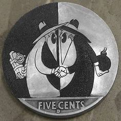 Spy by Steve Cox Spy Vs Spy, Metal On Metal, Hobo Nickel, Mad Magazine, Touch Of Gray, Coin Art, Coins For Sale, Old Coins, Morgan Silver Dollar